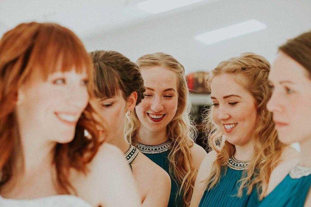 bridal party Sheffield wedding