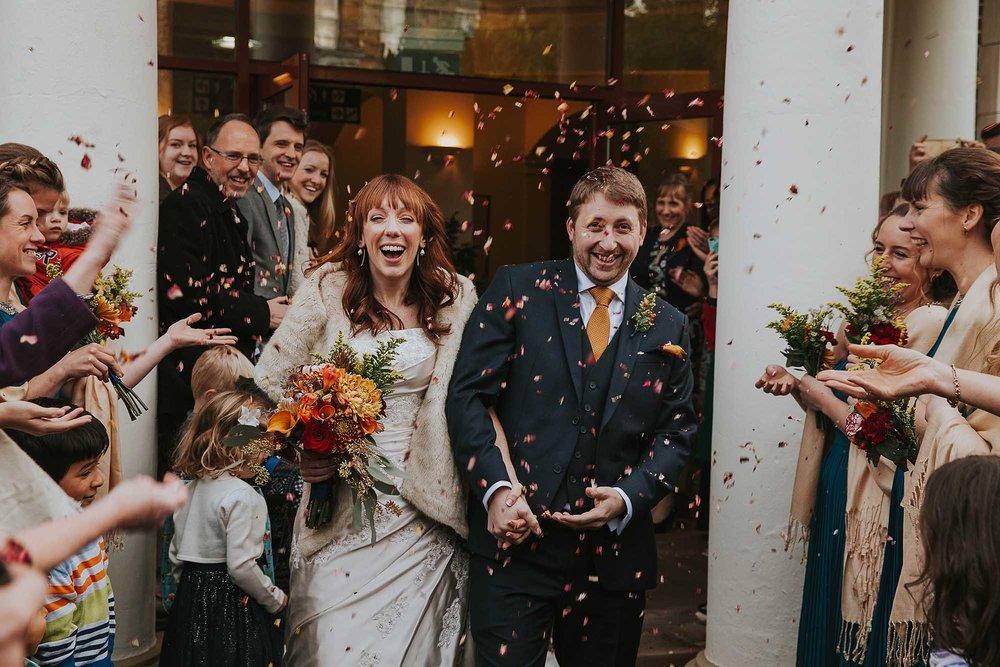 confetti bride groom Sheffield wedding