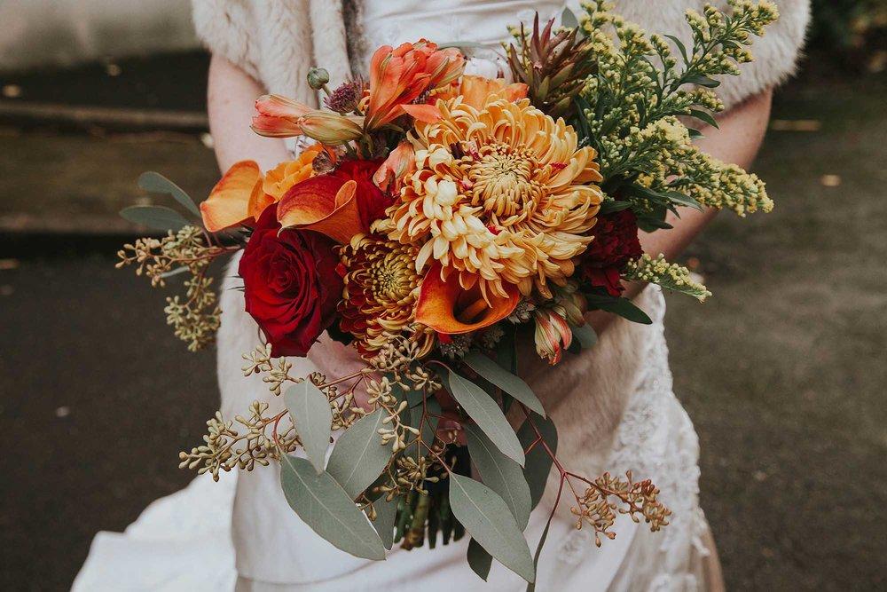 Yorkshire wedding florist in Sheffield