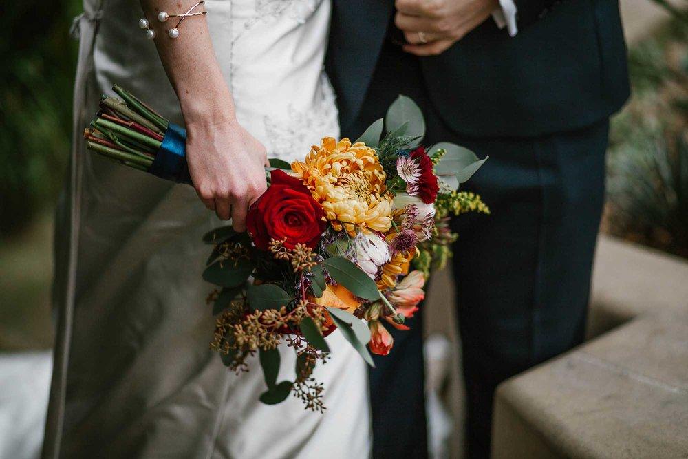 Sheffield Botanical Gardens wedding flowers