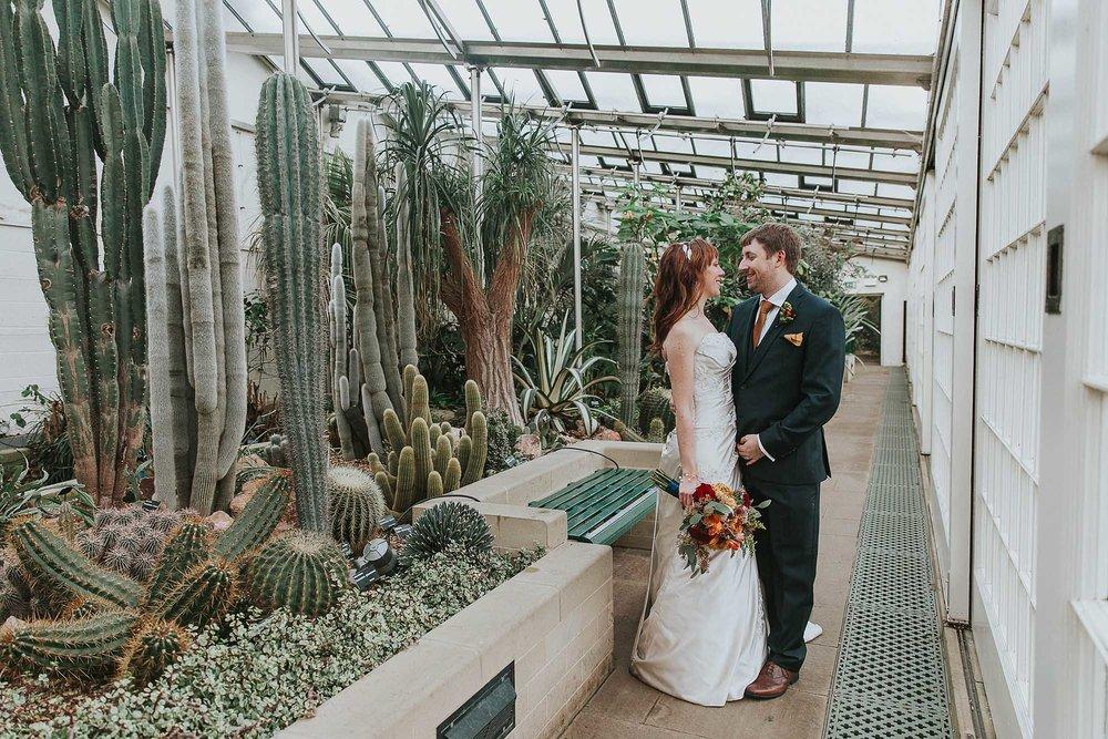 cactus wedding portrait