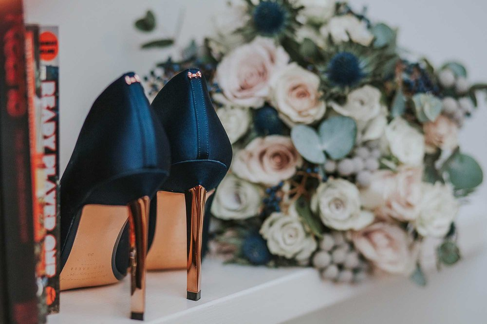 Ted Baker navy wedding shoes
