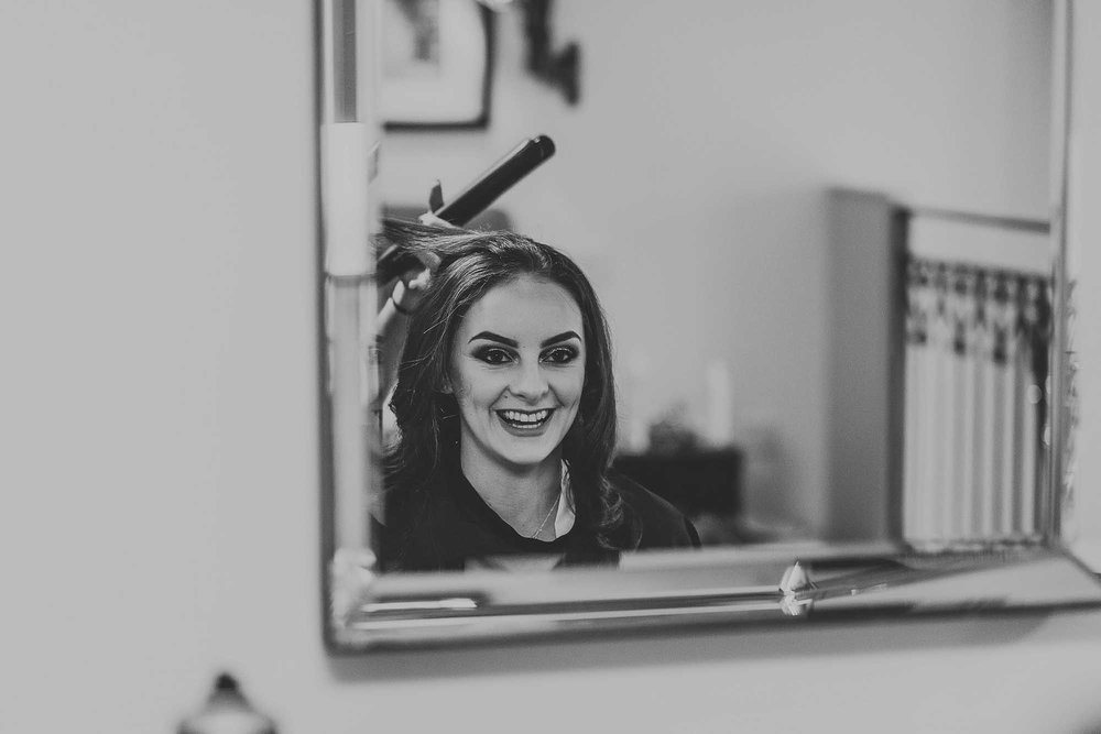 bridal prep at Great John Street Hotel