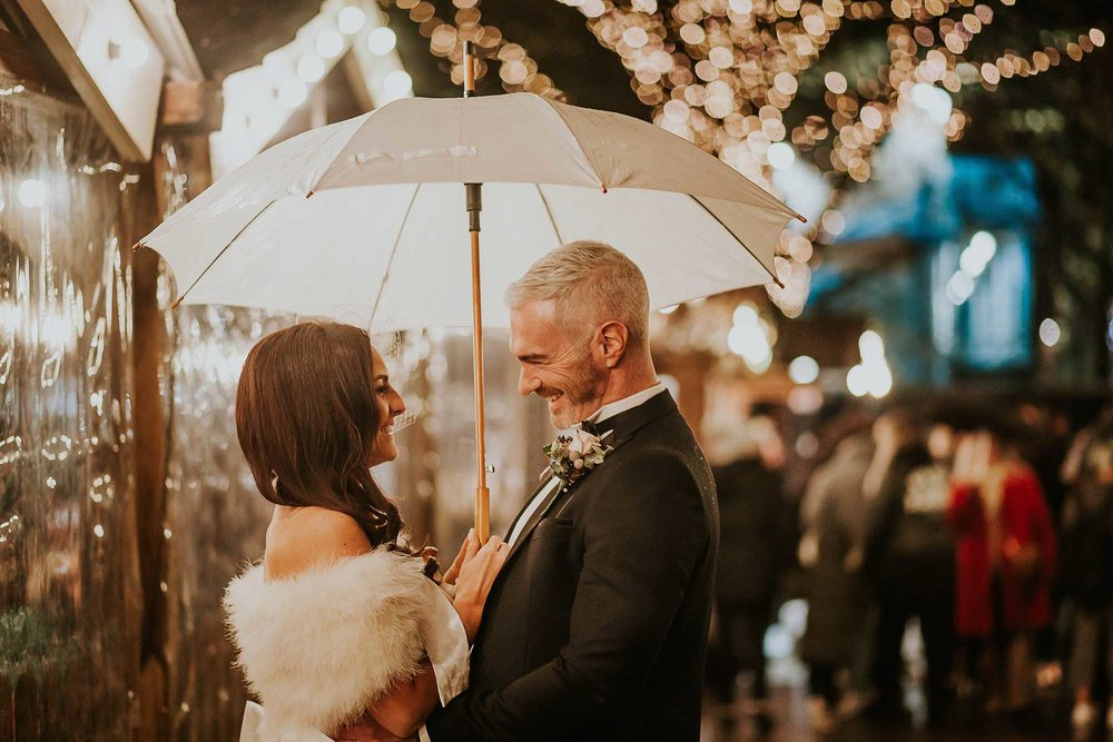 wedding photography at the Manchester Christmas markets