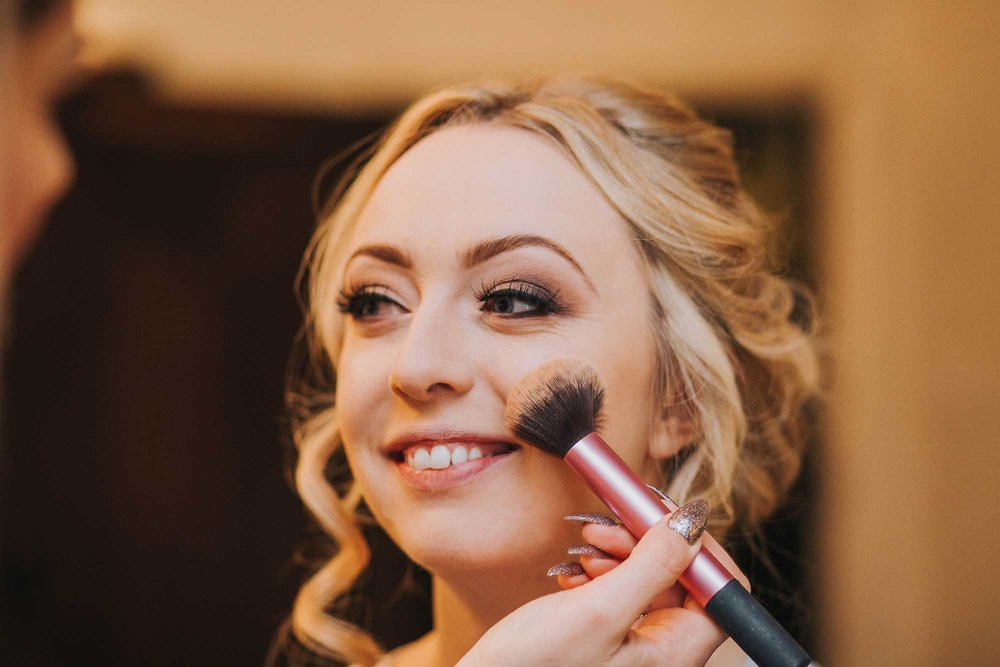 Bridal prep at Holdsworth House