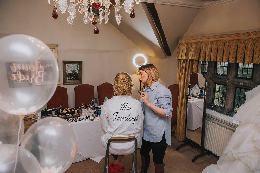 the bridal preparation room at Holdsworth House