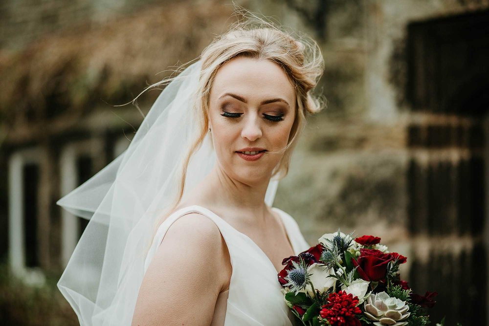 bridal portrait at Holdsworth House