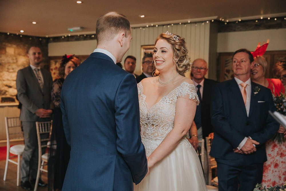 wedding ceremony at The Black Swan Helmsley