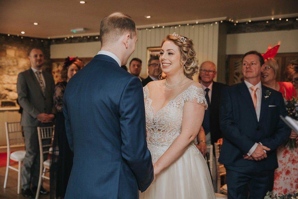 wedding ceremony at The Black Swan Helmsley