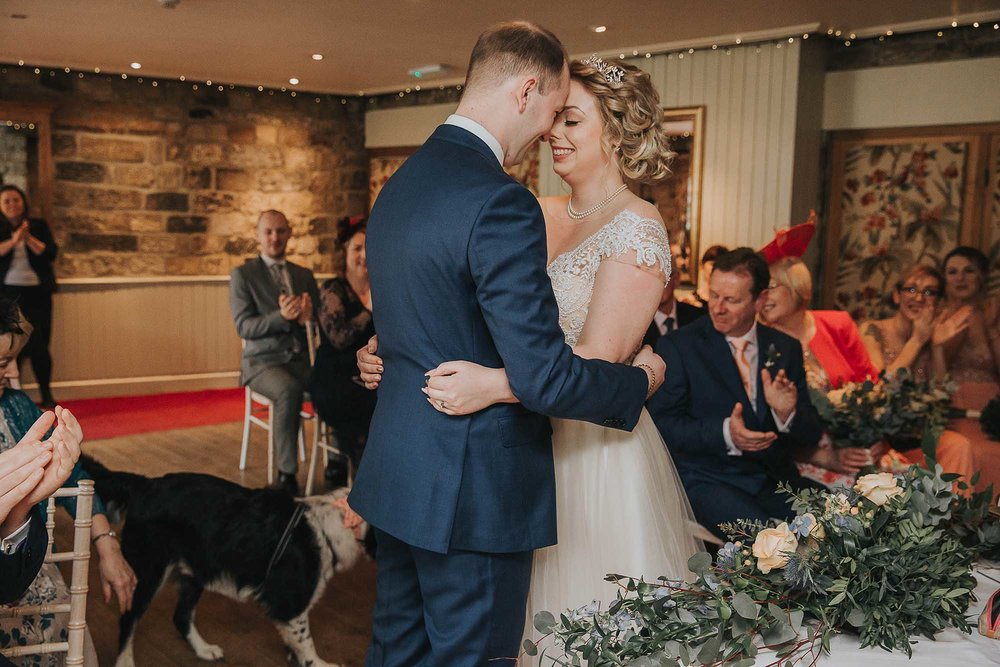 intimate ceremony at The Black Swan Helmsley