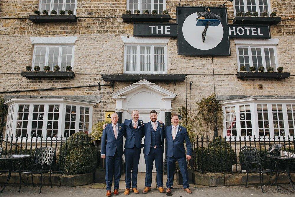 groomsmen at The Black Swan Helmsley