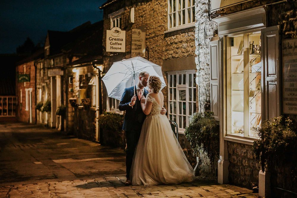 night time wedding photography The Black Swan Helmsley