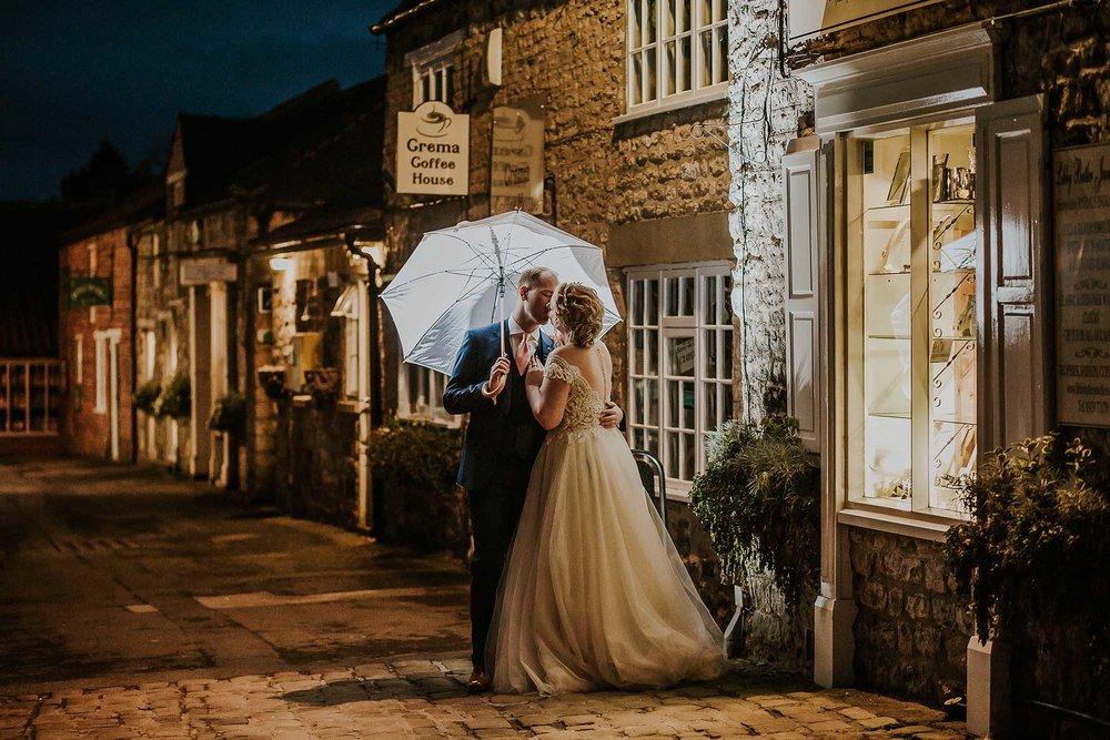 night time wedding photography The Black Swan Helmsley