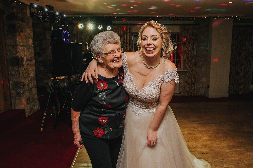 bride with her grandma The Black Swan Helmsley