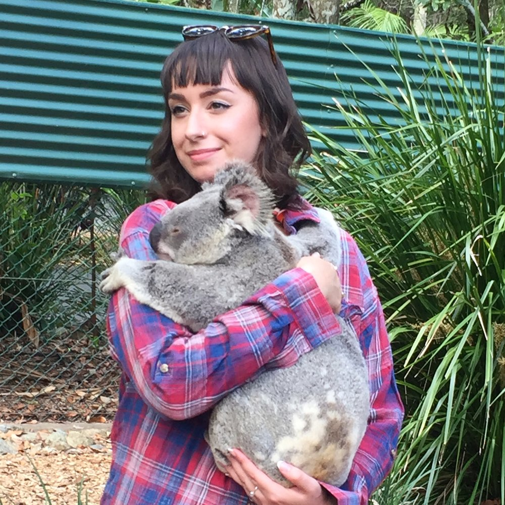Me holding a koala - best day ever!