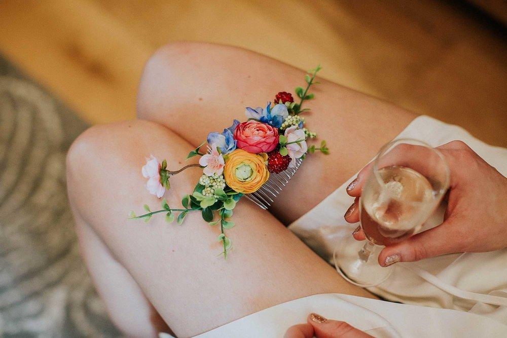 floral bridal hair clip