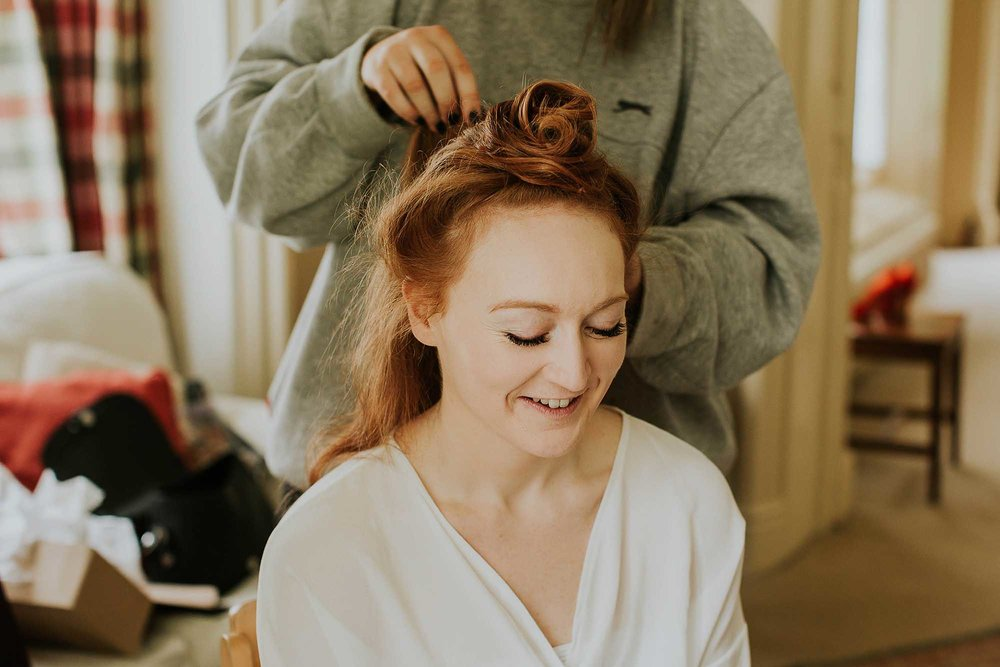 Combermere Abbey wedding bridal prep