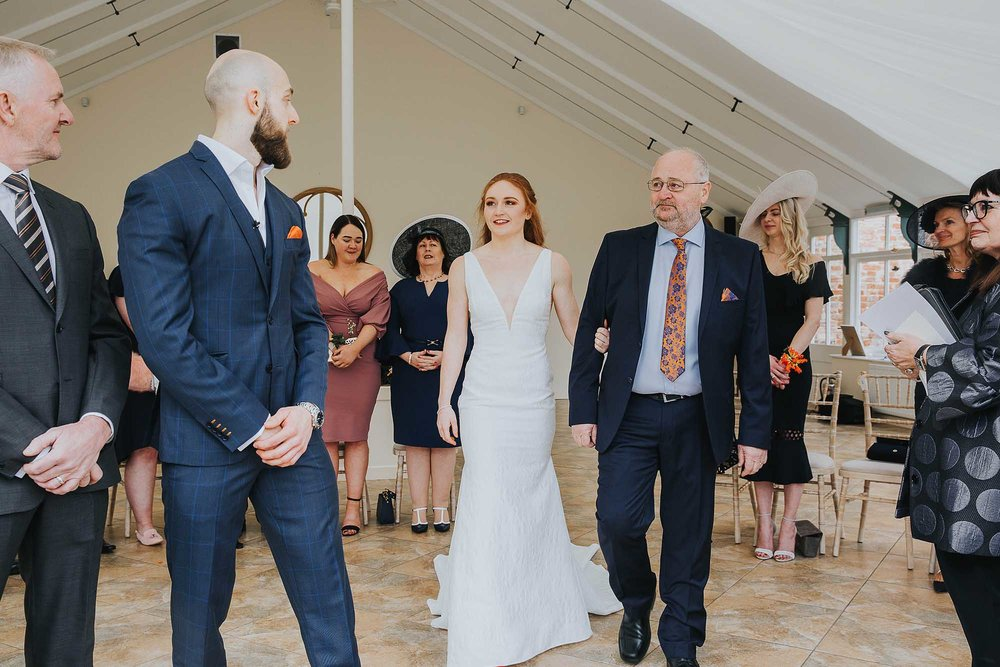 Combermere Abbey wedding Glasshouse ceremony