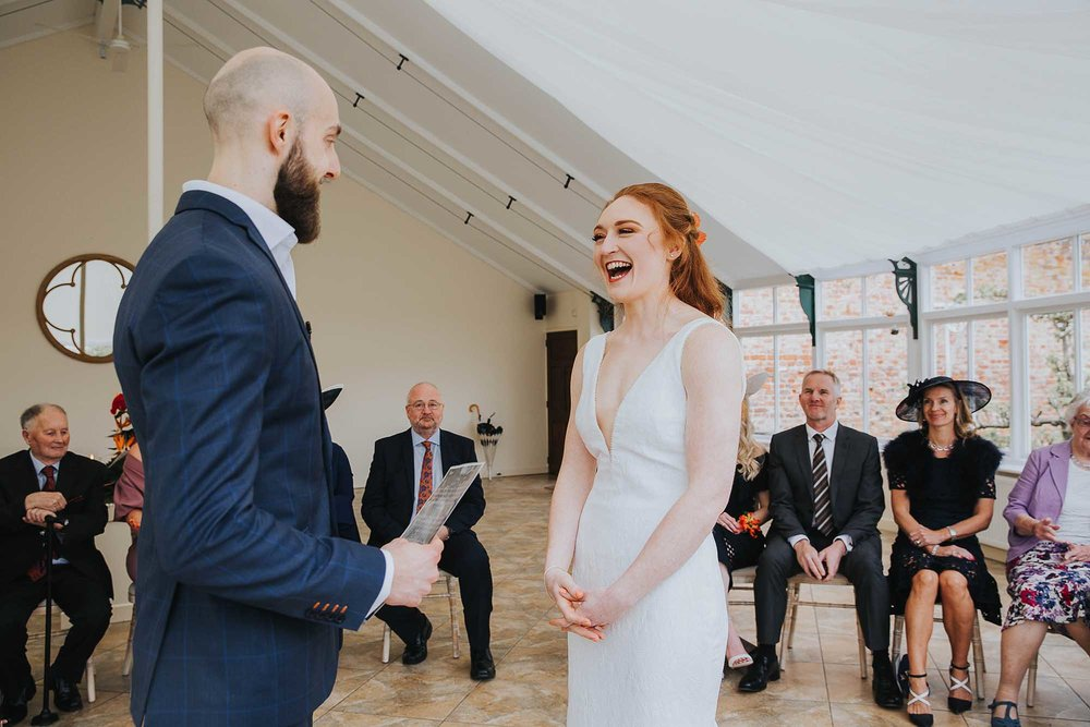 the Glasshouse civil ceremony at Combermere Abbey