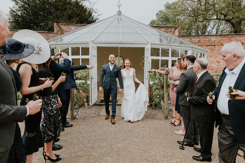 confetti photos Combermere Abbey