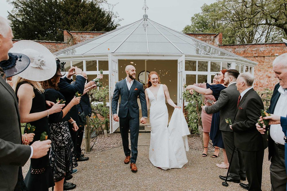 Combermere Abbey wedding confetti