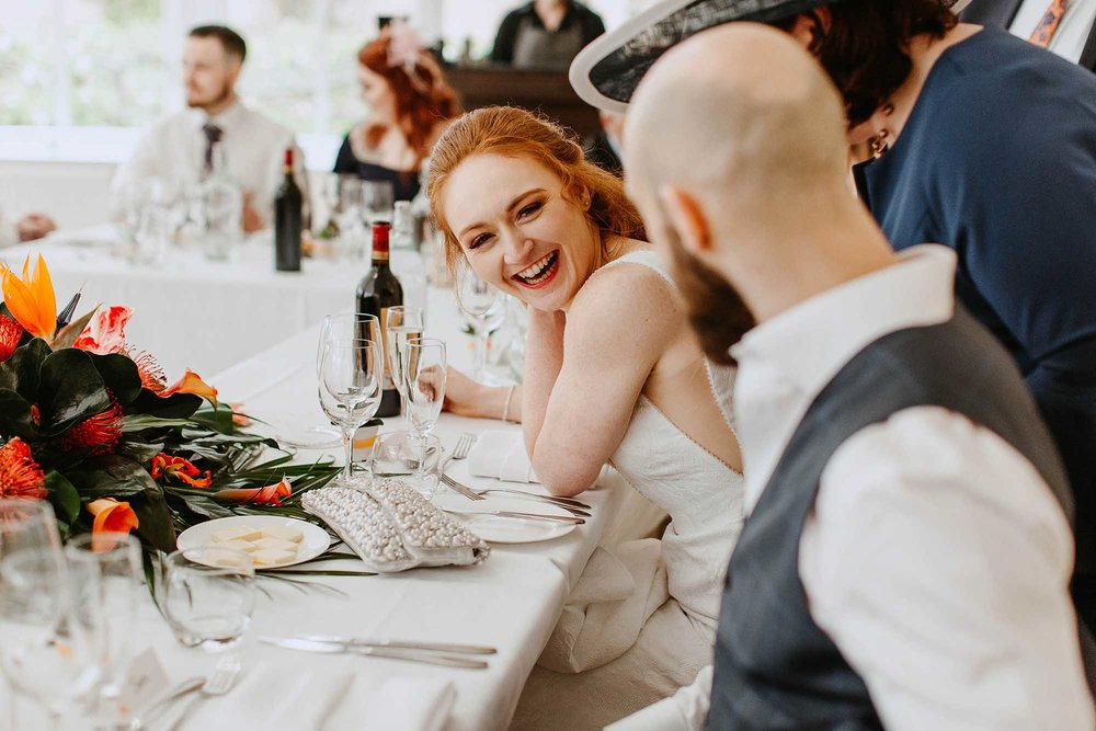Combermere Abbey wedding breakfast