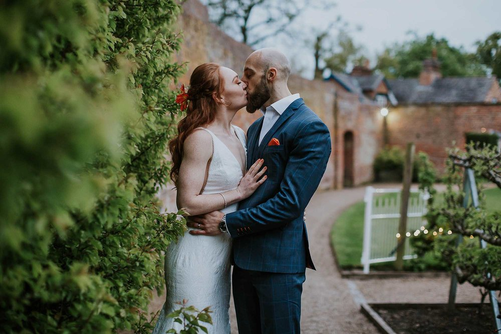 intimate wedding at Combermere Abbey