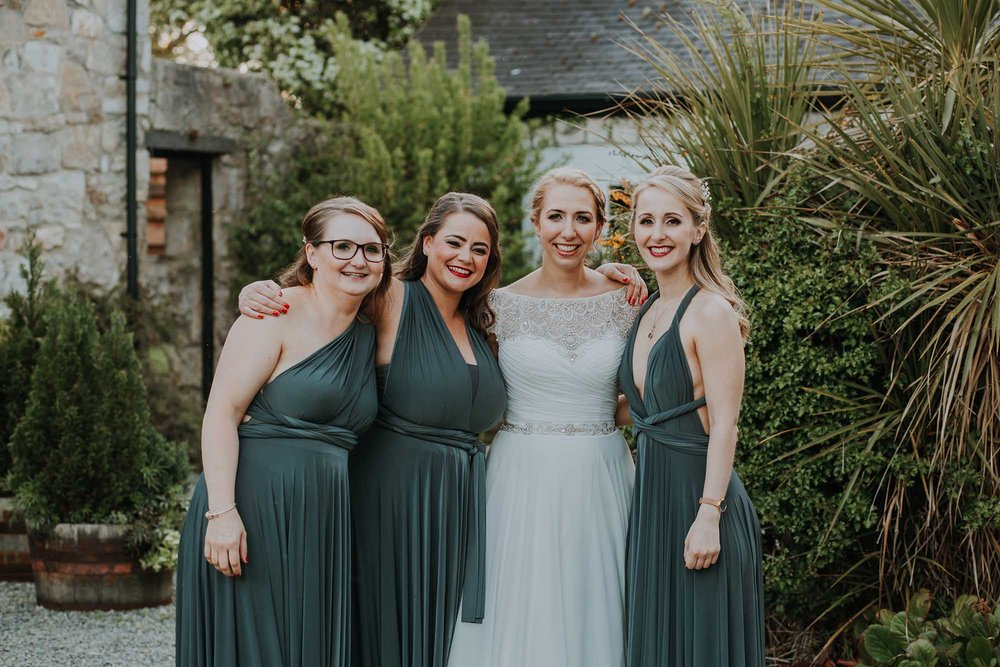 natural bridesmaid photograph Anglesey