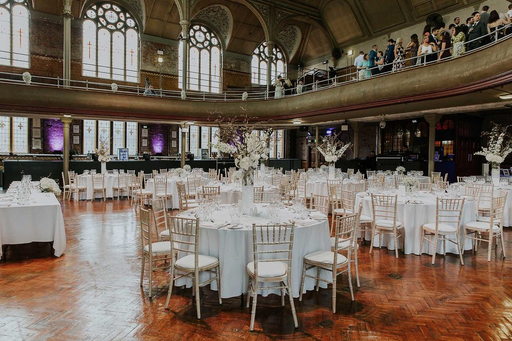 The Albert Hall Manchester wedding reception
