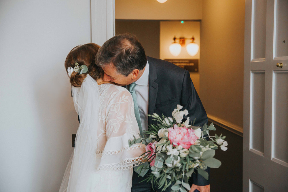 Bride and her father at The Principal