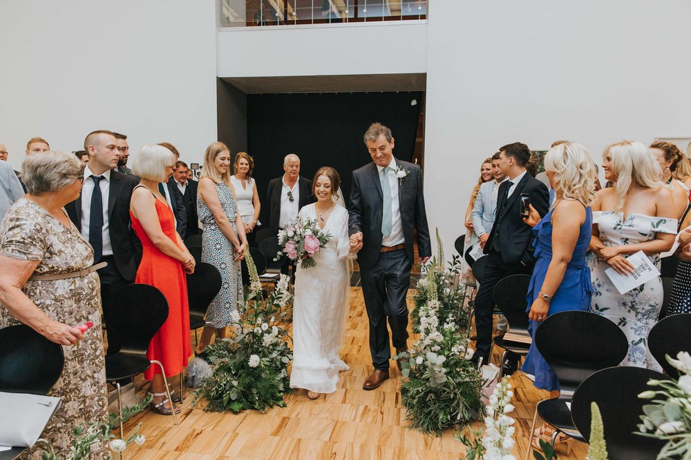 The Whitworth Art Gallery Manchester wedding ceremony