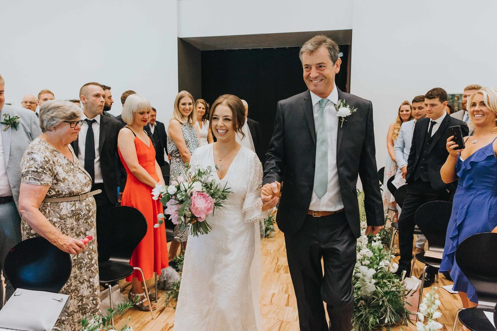 wedding ceremony at The Whitworth Art Gallery Manchester