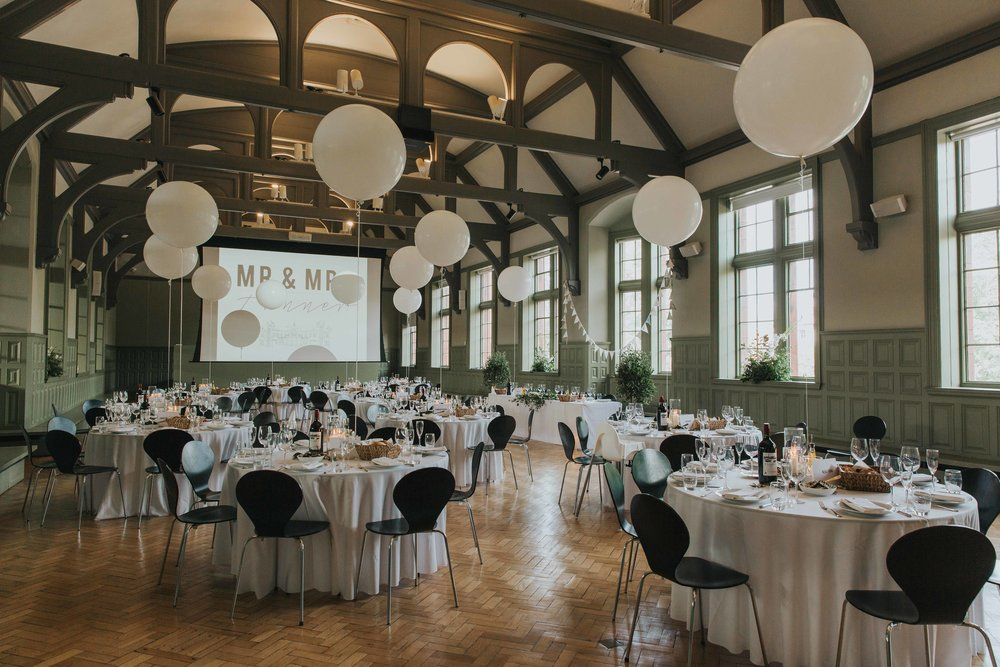 The Whitworth Art Gallery Manchester wedding room