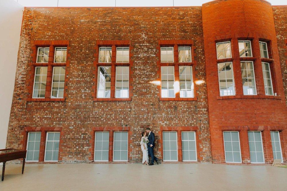 modern art gallery wedding venue UK