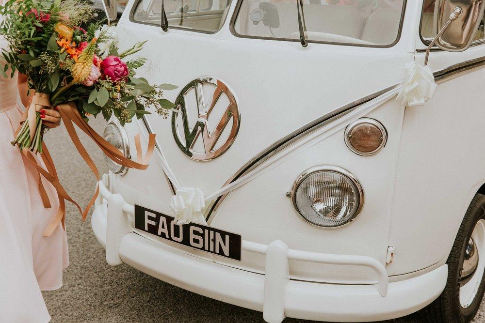 vintage wedding van Leeds