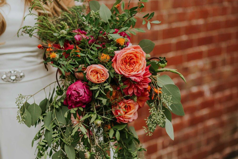 Alternative wedding florist Leeds