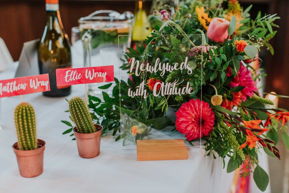 cactus themed wedding decor