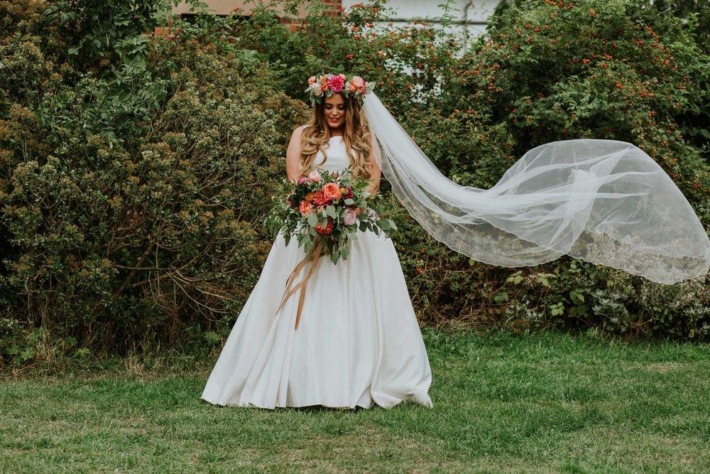 Bride at Left Bank Leeds Wedding