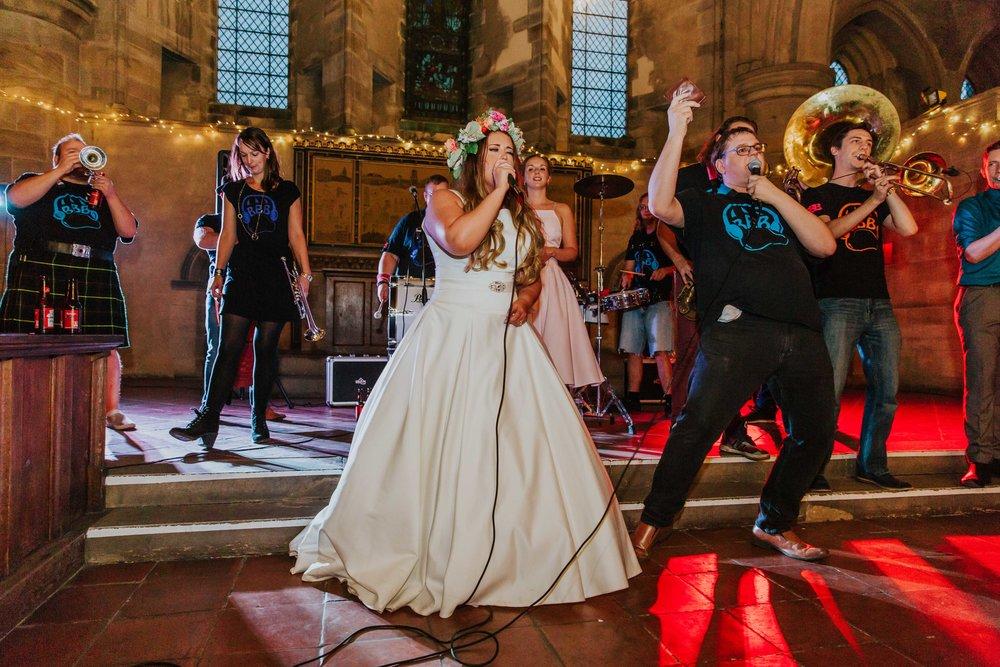 brass band wedding Leeds