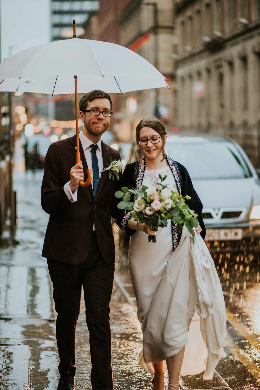A rainy wedding in Manchester