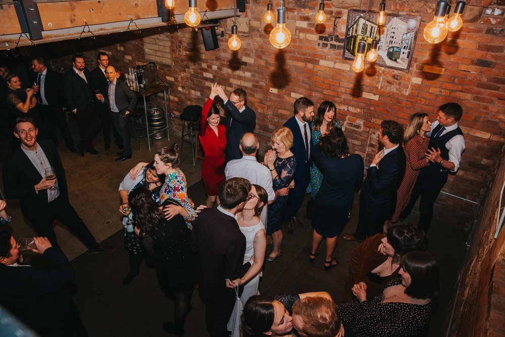 the dancefloor at Seven Brothers Brewery
