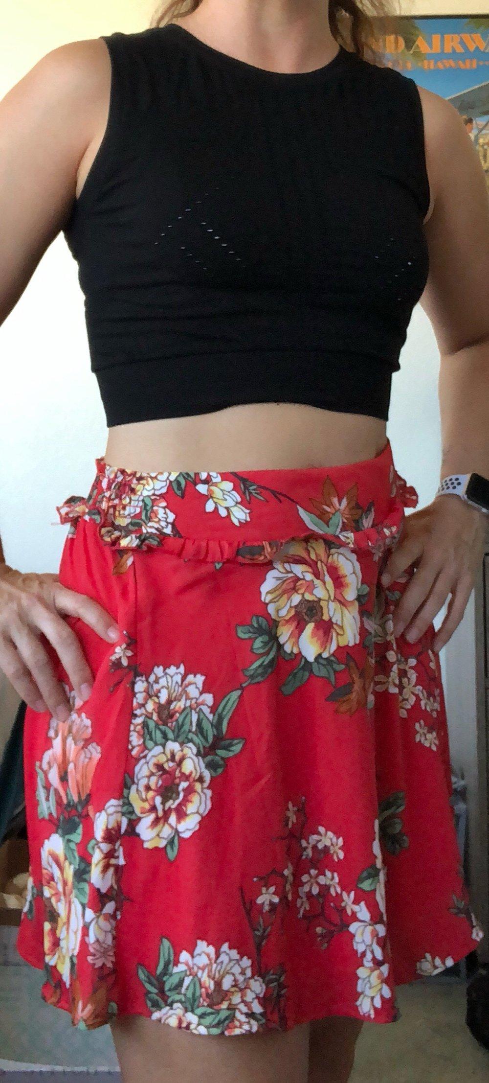 Fun Floral Skirt