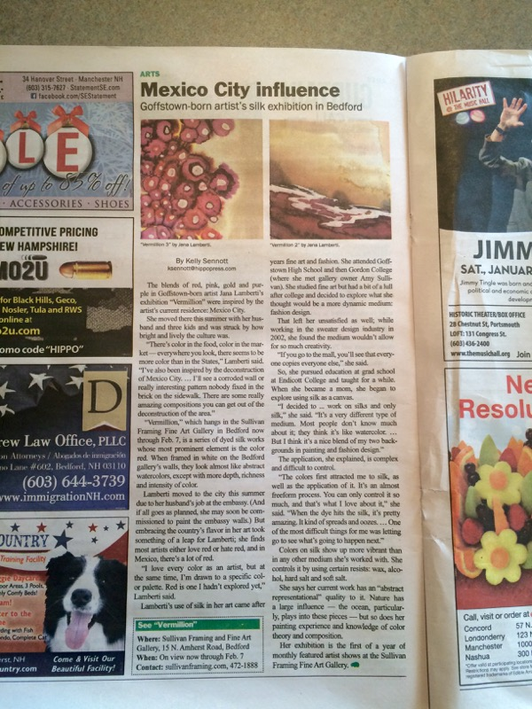 jana lamberti silk art in the hippo new hampshire newspaper