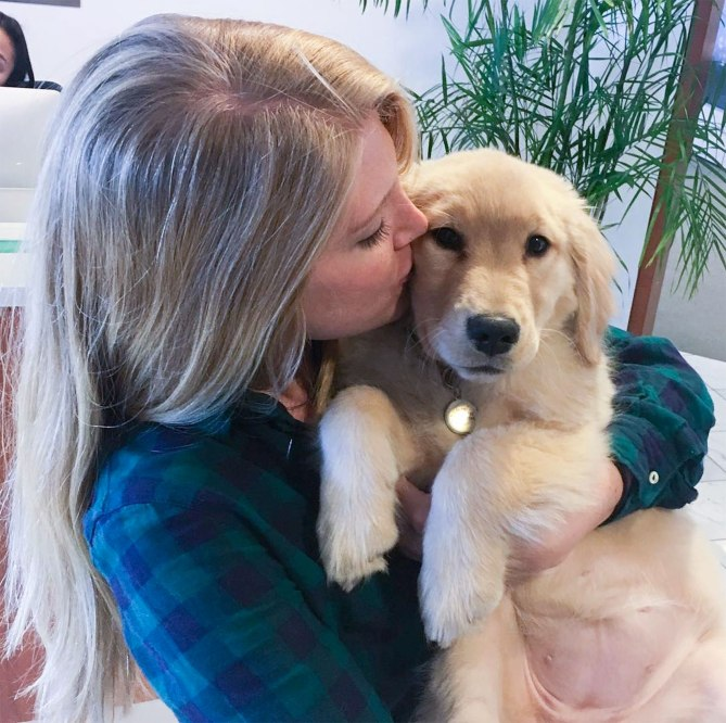 Glee's Instagram account @Goldens_Glee is filled with pictures of the pup meeting her more than 290,000 followers and making new friends. The only thing she asks of her human photo partners, aside from a hug, is that they share with the world what makes them