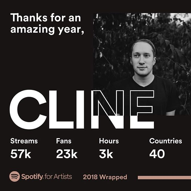 Thank you to everyone who listened this year! Can't wait to see what 2019 brings! . . . .  #spotify #clineband #indie #indierock #altindie #lifelikethis