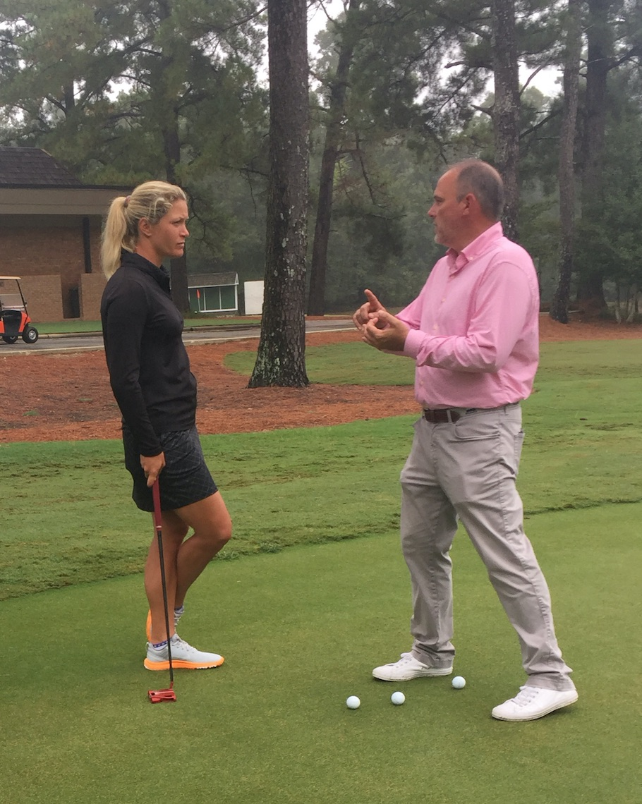 "David Orr's job with LPGA star Suzann Pettersen has been partly technical but also helping her ""rewrite her story"" and believing she's a great putter."
