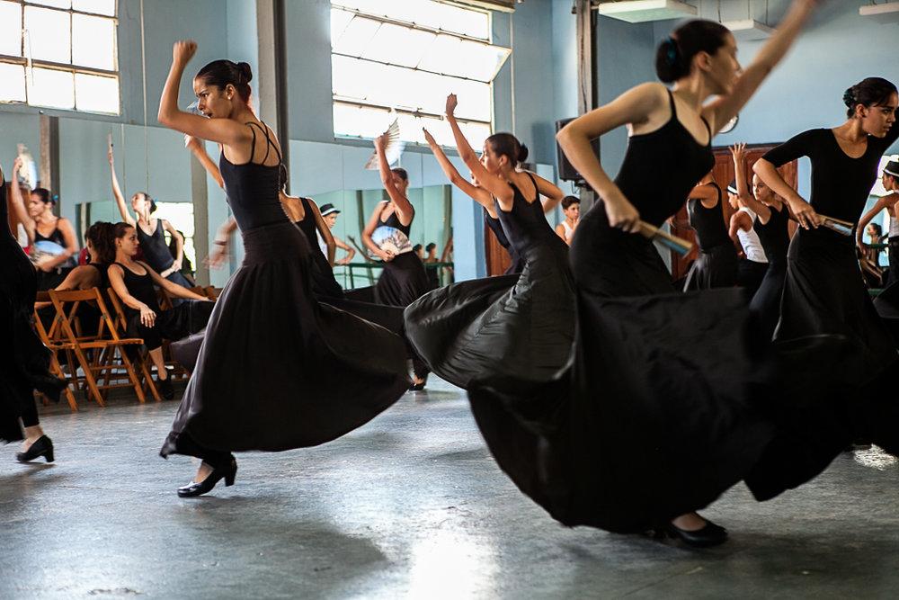 Ballet Lizt Alfonso | Cuban Flamenco School | Flamenco Dancers Cuba via @ginkaville + ginkaville.com