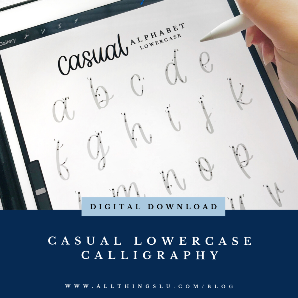 lowercase lettering — BLOG — ALL THINGS LU | Calligraphy +