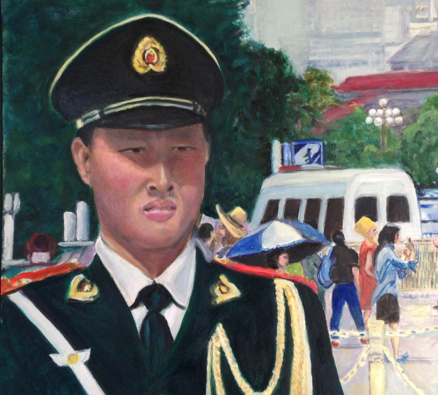 Chinese Soldier at Tiananmen Square
