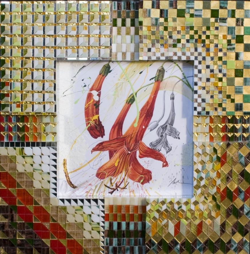 'Red Trumpets' - Original W/C-
